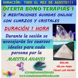 BONO DE 2 MEDITACIONES GUIADAS ONLINE CON CUARZOS Y CRISTALES