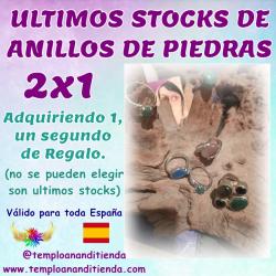 ÚLTIMOS STOCKS DE ANILLOS DE PIEDRAS