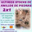 OFERTA ÚLTIMOS STOCKS DE ANILLOS DE PIEDRAS ADQUIRIENDO 1 TE LLEVAS EL 2º DE REGALO
