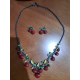 CONJUNTO DE COLLAR Y PENDIENTES CHERRIES