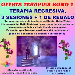 BONO ESPECIAL DE TERAPIA REGRESIVA 4 TERAPIAS REGRESIVAS Y LA 4ª DE REGALO