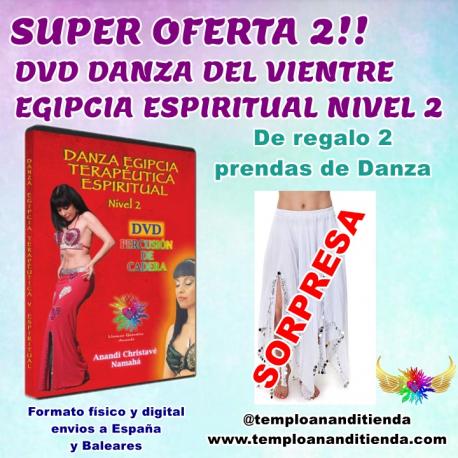 SÚPER OFERTA DVD DANZA DEL VIENTRE EGIPCIA ESPIRITUAL NIVEL 2 + 2 PRENDAS DE DANZA DE REGALO