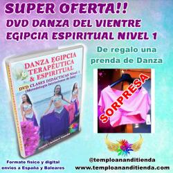 SÚPER OFERTA DVD DANZA DEL VIENTRE EGIPCIA ESPIRITUAL NIVEL 1 + 1 PRENDA DE DANZA DE REGALO (FORMATO FÍSICO)