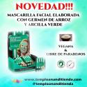 MASCARILLA FACIAL ELABORADA CON GERMEN DE ARROZ Y ARCILLA VERDE