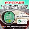 BÁLSAMO LABIAL VEGANO Y NATURAL CON GERMEN DE ARROZ