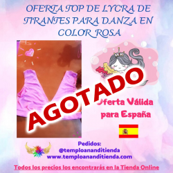 TOP DE LYCRA DE TIRANTES PARA DANZA EN COLOR ROSA