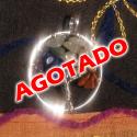 COLGANTES BAÑADOS EN PLATA DEL ÁRBOL DE LA VIDA CON MINERALES