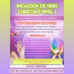 CURSO INICIACIÓN REIKI CHRISTAVÉ NIVEL 1 PRESENCIAL