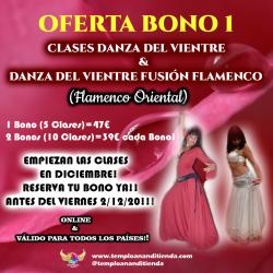 BONO DE CLASES DE DANZA DEL VIENTRE EGIPCIA ESPIRITUAL 4 CLASES 36 €
