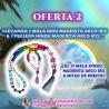 SÚPER OFERTA MALA & PULSERA HINDÚ MADERITA ARCO IRIS + EL 2º MALA HINDÚ A MITAD DE PRECIO!!