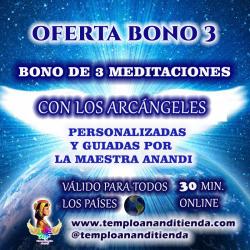 BONO DE 3 MEDITACIONES GUIADAS PERSONALIZADAS CON LOS ARCÁNGELES ONLINE POR LA MAESTRA ANANDI CHRISTAVÉ