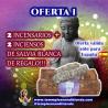 SÚPER OFERTA 2 INCENSARIOS CAJITA DE MADERA DE LA INDIA + 2 INCIENSOS DE SALVIA BLANCA DE REGALO!!