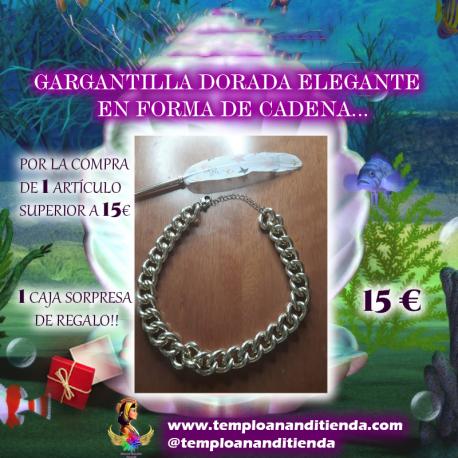 GARGANTILLA DORADA ELEGANTE EN FORMA DE CADENA