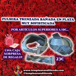 PULSERA TRENZADA BAÑADA EN PLATA MUY SOFISTICADA