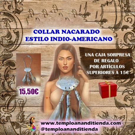 COLLAR NACARADO ESTILO INDIO - AMERICANO