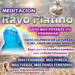 MEDITACIÓN DEL RAYO PLATINO: RAYO DELFÍNICO DE LA PUREZA Y DEL AMOR INCONDICIONAL