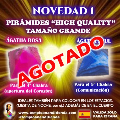 "PIRÁMIDES DE ÁGATHA ""HIGH QUALITY"" AZUL & ROSA"