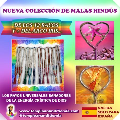 NUEVA COLECCIÓN DE MALAS HINDÚS DE LOS 12 RAYOS Y MÁS... DEL ARCO IRIS