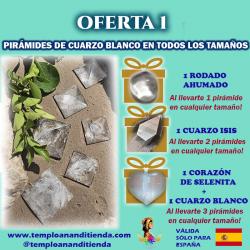 PIRÁMIDES DE CUARZO BLANCO DE ALTA CALIDAD EN TAMAÑO MEDIANO
