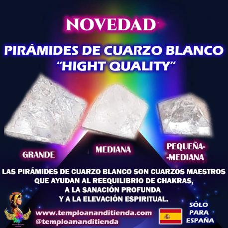 """PIRÁMIDES DE CUARZO BLANCO """"HIGH QUALITY"""" EN TODOS LOS TAMAÑOS"""
