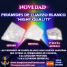 """PIRÁMIDES DE CUARZO BLANCO """"HIGH QUALITY"""" DE DIFERENTES TAMAÑOS"""