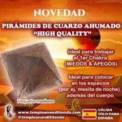 PIRÁMIDE DE CUARZO AHUMADO