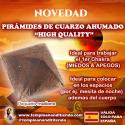 """PIRÁMIDE DE CUARZO AHUMADO """"HIGH QUALITY"""" TAMAÑO PEQUEÑO-MEDIANO"""