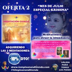 """PACK 2 MEDITACIONES PARA ATRAER LA ABUNDANCIA """"MES DE JULIO ESPECIAL KRISHNA"""" AL -10% DTO!!"""
