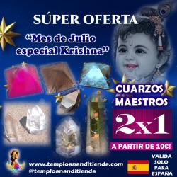 "OFERTA CUARZOS MAESTROS 2X1 A PARTIR DE 10€ ""MES DE JULIO ESPECIAL KRISHNA"""