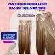 PANTALÓN BOMBACHO DANZA DEL VIENTRE EN COLOR DORADO (alta calidad)