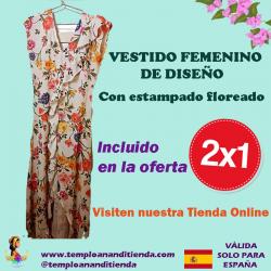 VESTIDO FEMENINO DE DISEÑO CON ESTAMPADO FLOREADO