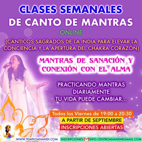 CLASES SEMANALES DE CANTO DE MANTRAS
