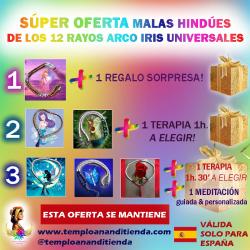 SÚPER OFERTA DE LA COLECCIÓN DE MALAS HINDÚES DE LOS RAYOS ARCO IRIS UNIVERSALES