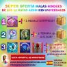 SÚPER OFERTA DE LA COLECCIÓN DE MALAS HINDÚES DE LOS 12 RAYOS Y MÁS... DEL ARCO IRIS