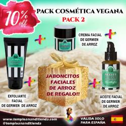 PACK 2 DE COSMÉTICA VEGANA DE GERMEN DE ARROZ AL -10% DTO + JABONCITOS DE ARROZ DE REGALO!