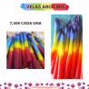 VELAS ARCOIRIS DE GLASTONBURY