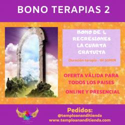 OFERTA BONO DE TERAPIAS DE 4 REGRESIONES PRESENCIALES
