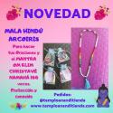 MALA HINDÚ ARCO IRIS PARA HACER TUS ORACIONES Y EL MANTRA OM KLIM CHRISTAVÉ NAMAHÁ
