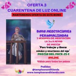 BONO DE TRES SESIONES DE MEDITACIONES PERSONALIZADAS LA TERCERA A MITAD DE PRECIO