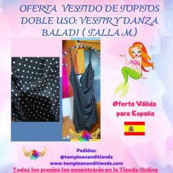 VESTIDO DE TOPITOS DOBLE USO : VESTIR Y DANZA BALADI
