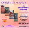 """PACK DE 8 CAJITAS DE INCIENSOS A ELEGIR (NAG CHAMPA ROSE, NAG CHAMPA, SALVIA BLANCA Y COPAL BLANCO """"TRIBAL SOUL"""")"""