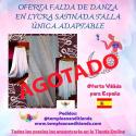 FALDA DE DANZA EN LYCRA SATINADA TALLA ÚNICA ADAPTABLE